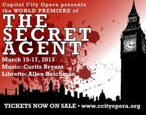 Curtis Bryant - THE SECRET AGENT - Capitol City Opera banner